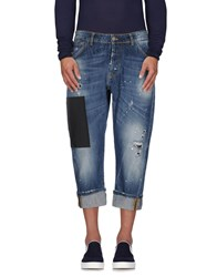 Yes London Denim Denim Capris Men Blue