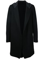 Bassike Hooded Coat Men Nylon Wool M Black