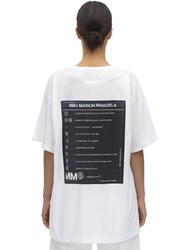 Maison Martin Margiela Back Printed Cotton Jersey T Shirt White