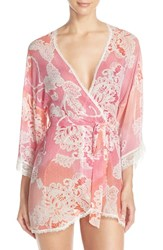 Women's In Bloom By Jonquil Print Chiffon Robe