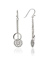 Chavin Silver Jaguar Filigree Dangle Earrings Silver