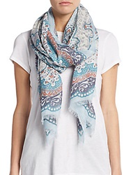 Saks Fifth Avenue Long Road Printed Scarf Pool House