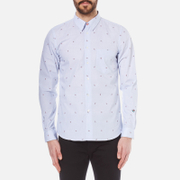 Paul Smith Ps By Men's Long Sleeve Tailored Fit Chambray Shirt Blue