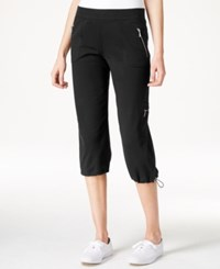 Styleandco. Style And Co. Cropped Bungee Hem Pants Only At Macy's Deep Black