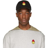 Ami Alexandre Mattiussi Black Smiley Edition Patch Cap