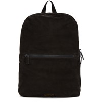 Common Projects Black Suede Simple Backpack