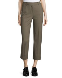 Theory Heze Contour Cropped Pants Military
