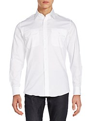 Ralph Lauren Black Label Rover Stretch Cotton Military Sportshirt White