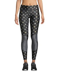 Terez The Many Faces Of Mickey Mouse Tall Band Leggings Black Pattern