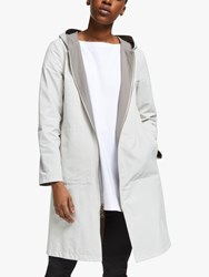 Eileen Fisher Reversible Hooded Jacket Bone Smoke