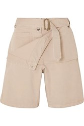 J.W.Anderson Jw Anderson Belted Cotton Drill Shorts Beige