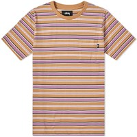 Stussy Dennis Stripe Tee Orange