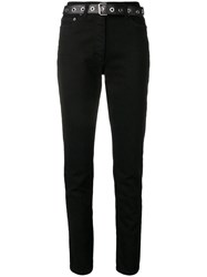 Moschino Belted Skinny Jeans Black