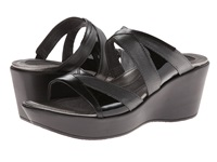 Naot Footwear Siren Black Madras Leather Metallic Road Leather Black Patent Leather Women's Shoes