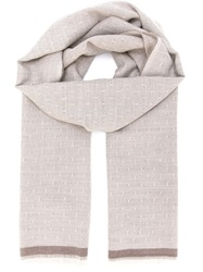 Eleventy Fringed Edge Scarf Nude And Neutrals