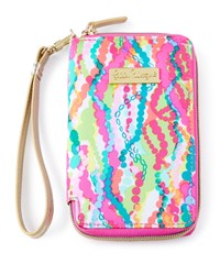 Pink Multi Print Tiki Palm Iphone 6 Wristlet Lilly Pulitzer Multi Colors