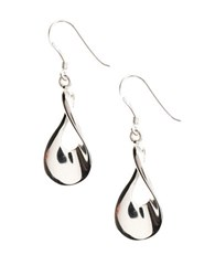 Lord And Taylor Sterling Silver Twisted Teardrop Earrings