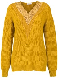 Spacenk Nk Knitted Top With Lace Detail Yellow