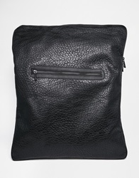 Asos Slouchy Backpack With One Strap In Black