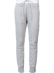 Sacai Panelled Drawstring Trousers Grey