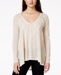 American Rag Lace Trim High Low Pullover Tunic Top Only At Macy's