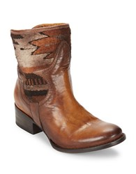 Freebird Leather Ankle Boots Cognac