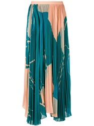 Maryling Pleated Maxi Skirt Green