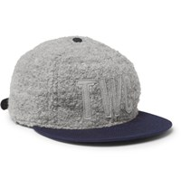 The Workers Club Ebbets Field Flannels Appliqued Boucle Baseball Cap Light Gray