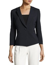 Tahari By Arthur S. Levine Double Face One Button Jacket Navy