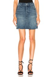 Mother Four Points Mini Fray Skirt In Blue