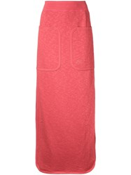 Theatre Products Side Slit Sweat Skirt Red