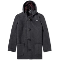 Gloverall Mid Length Duffle Coat Grey