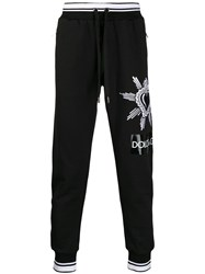 Dolce And Gabbana Sacred Heart Track Pants Black