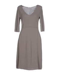 Bruno Manetti Short Dresses Grey