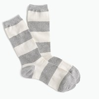 J.Crew Trouser Socks In Rugby Stripe