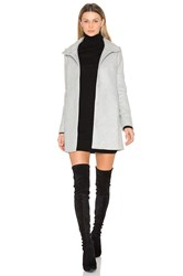 Olcay Gulsen A Line High Neck Coat Grey