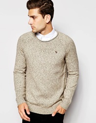 Abercrombie And Fitch Jumper With Twisted Yarn Oatmeal