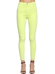 J Brand Alana Cropped Skinny Denim Jeans Yellow