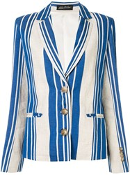 Anna October Striped Blazer White