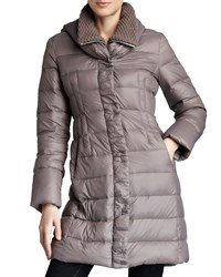 T Tahari Olivia Packable Puffer Coat Grey