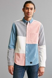 Lazy Oaf Patchwork Corduroy Button Down Shirt Pink
