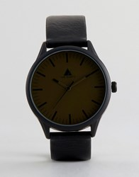 Asos Watch With Khaki Face Black