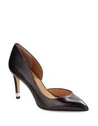 Marc By Marc Jacobs D Orsay Point Toe Leather Pumps Black