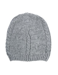 Asos Cable Slouchy Beanie Hat Grey