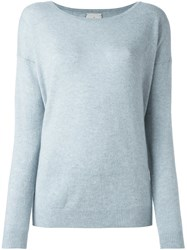 Le Kasha Crew Neck Jumper Blue