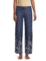 In Bloom Dandelion Printed Pajama Pants Blue