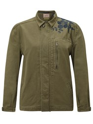 Maison Scotch Army Jacket With Embroidery Green