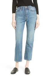 Vince Women's High Waist Vintage Straight Leg Jeans Medium Wash
