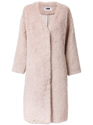H Beauty And Youth. 'Steiff' Coat Pink Purple