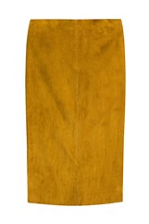 Jitrois Suede Pencil Skirt Yellow